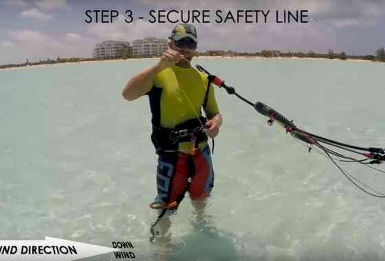 Kiteboard/Kitesurf self rescue tutorial